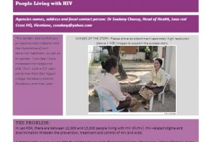Lao Red Cross: Working in Partnership with People Living with HIV – Stories from the Field