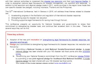 Guidance on Disaster Law for the 32nd International Conference – Disaster Law