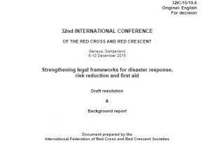 Disaster law draft resolution and report – Disaster Law