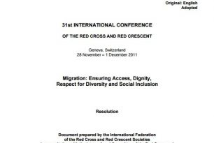 Section on humanitarian concerns generated by international migration (See Resolution) – Migration