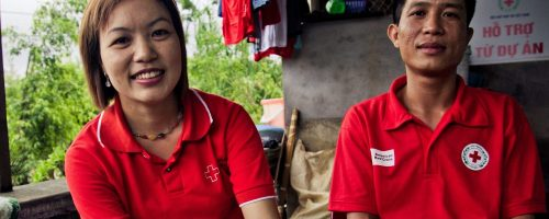 Khuyen and her husband Do are both HIV positive. They are core member of a group running couselling session at the hospital in Hai Phong, Vietnam. They are supported financially and technically by the Vietnamese Red Cross and by the American Red Cross. They are also running activities for income generation such as sowing or raising chicken.
