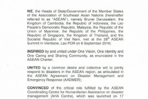 ASEAN Declaration on One ASEAN One Response