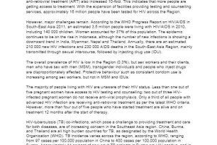 Southeast Asian Four Year HIV/AIDS Plan, 2012 – 2015