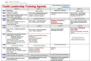Youth Leadership Training Agenda