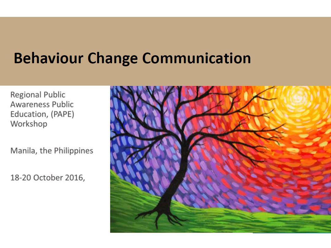 Introduction to Behavior Change Communication (BCC