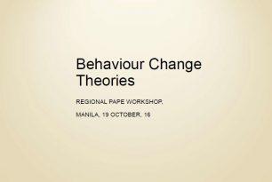 Behaviour Change Theories