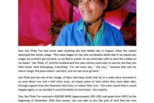 Cash Transfer Programming stories from Kalay, Myanmar