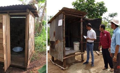 180 Household flush pour latrines had been constructed and operational. The households have also been briefed about operation and maintenance of the latrine structures in Bantey Mean Chey Province, Cambodia, as of December 2016