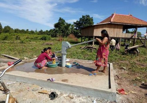 Water source development: Construction of shallow tube well with hand pump facility in Boseleav Leav village, Chitr Borei commune at Kratie province was completed and benefitted 92 households. November 2016