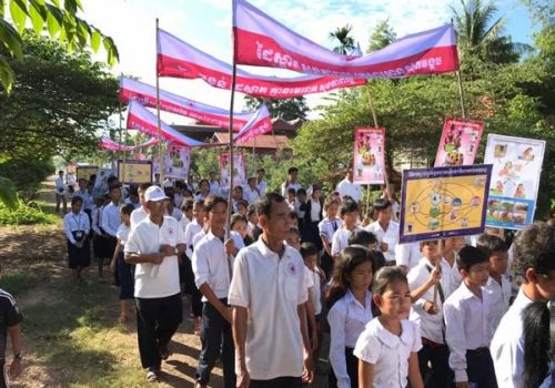 Cambodian Red Cross Kratie Branch celebrated the world toilet day and spread message for disease transmission, importance of latrine and handwashing at critical time.