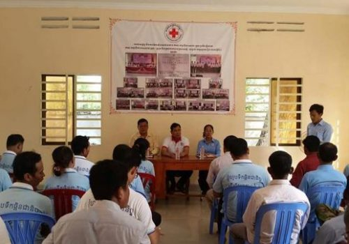 Cambodian Red Cross volunteers meeting was organized to discuss about program issues and achievement in November 2016