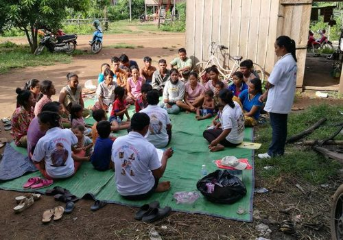 Hygiene Promotion session in Kratie Povince, Cambodia conducted in October and November 2016