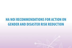 Ha Noi Recommendations for Action on Gender and Disaster Risk Reduction