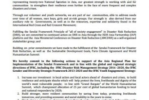 IFRC Stakeholder Action Statement in AMCDRR