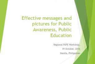 Effective Messages and Pictures for Public Awareness Public Education (PAPE)