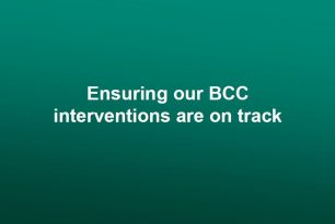 Monitoring and evaluation for BCC: Ensuring our BCC interventions are on track