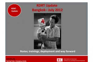 RDRT Update as of July 2012