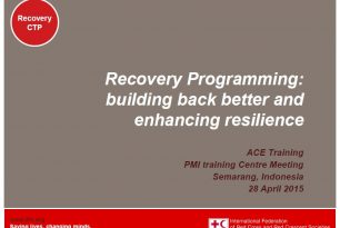 Recovery Programming: building back better and enhancing resilience