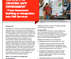 Ten steps to creating safe environment – from awareness building to integration into PMI services