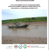 Mangrove Forest study report: Evaluating present status and socio-economic effects of mangrove forests in communities of Tan Thanh, Bang La and Dai Hop – Hai Phong City. 2015. Viet Nam Red Cross, Mangrove for the Future, IFRC, Mangrove Ecosystem Research Centre and IUCN