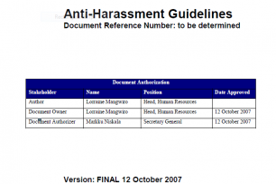 Anti-Harrassment Guidelines