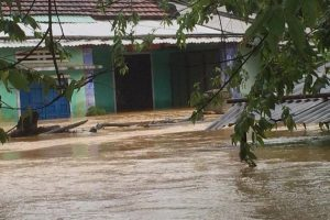 Floods water inundated more than hundreds of thousands of houses. Photo taken in Dien Ban, Quang Nam on 7 November 2017