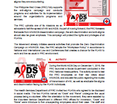 Philippine Red Cross HIV/AIDS Campaign