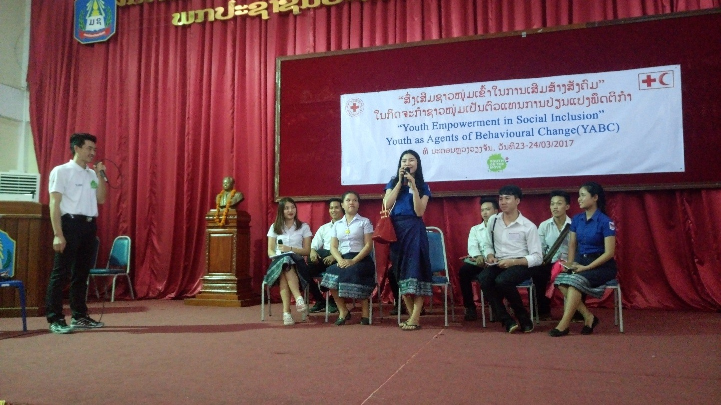 Lao Red Cross youth empowerment programme Mar 2017