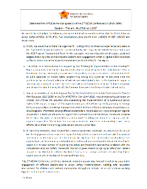 Asia-Pacific Coalition for School Safety (APCSS)'s statement at 2nd ASEAN Conference on School Safety