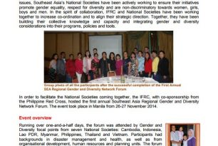 First Southeast Asia Regional Gender and Diversity Network Forum – Nov 2014