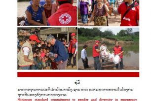 Minimum standard commitment to gender and diversity in emergency programming in Lao Red Cross
