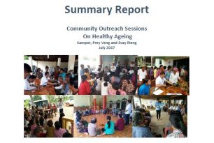 Summary Report: Community Outreach Sessions on Healthy Ageing July 2017