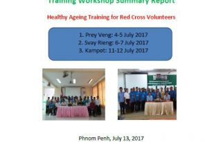 Healthy Ageing Training for Red Cross Volunteers Report