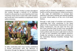 Cambodian Red Cross Society: Working towards school safety