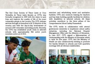 Cruz Vermelha de Timor-Leste working towards school safety