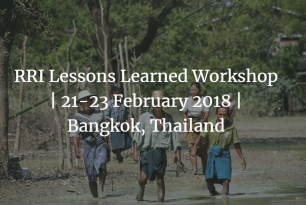 Regional Resilience Initiative Lessons Learned Workshop | 21-23 February 2018 | Bangkok, Thailand