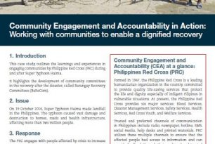 Community Engagement and Accountability in Action: Working with communities to enable a dignified recovery