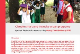 Climate smart and inclusive urban programs: Myanmar Red Cross Society supporting Making Cities Resilient by 2030