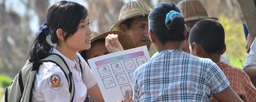 Volunteer health education  Myanmar Red Cross Society