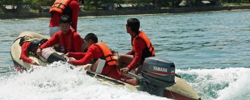 Thai Red Cross sea rescue training supported under the post Tsunami DM programme, Krabi, Thailand July 2009