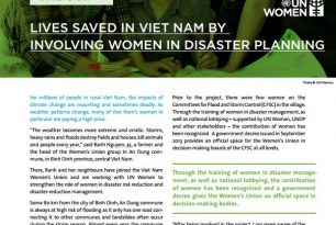 Lives Saved in Vietnam by Involving Women in Disaster Planning