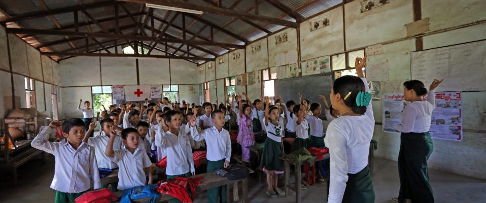 School safety or school based risk reduction programme in Myanmar.
