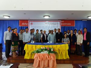 22 participants attended the Lessons Learned Workshop in Oudomxay. Photo by: Lao Red Cross