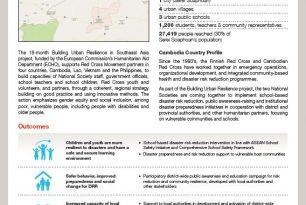 Building Urban Resilience – Cambodia profile