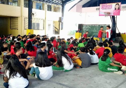 Building Urban Resilience (BUR) - Students at Bagong Silangan High School during the Leadership Development Program held last September 16 & 17 , 2017 within the school premises. Photo by Philippine Red Cross