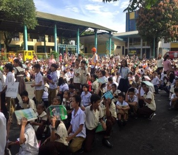 Earth Quake drill at Diosdado Macapagal Elementary School. Photo by PRC