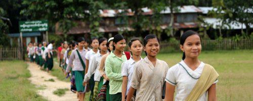 School children in Myanmar. Photo credit: Felix La Framboise, for the IFRC
