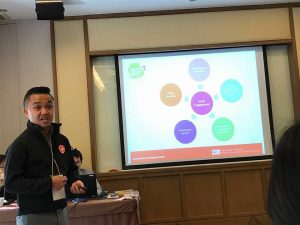 Lai Wai Keat, a youth volunteer from Malaysian Red Crescent and a member of South East Asia Youth Network (SEAYN) presented the key recommendation on youth engagement.