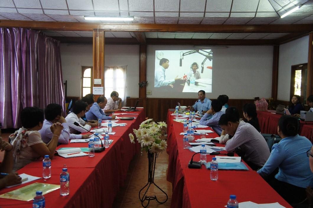 Day 1: Knowledge sharing from LNR trainer, Mr. Vansay Tavinyahn.