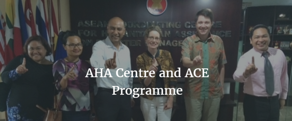 AHA Centre and ACE Programme with text